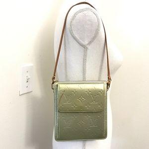 Authentic Louis Vuitton Yellow Vernis Mott Bag